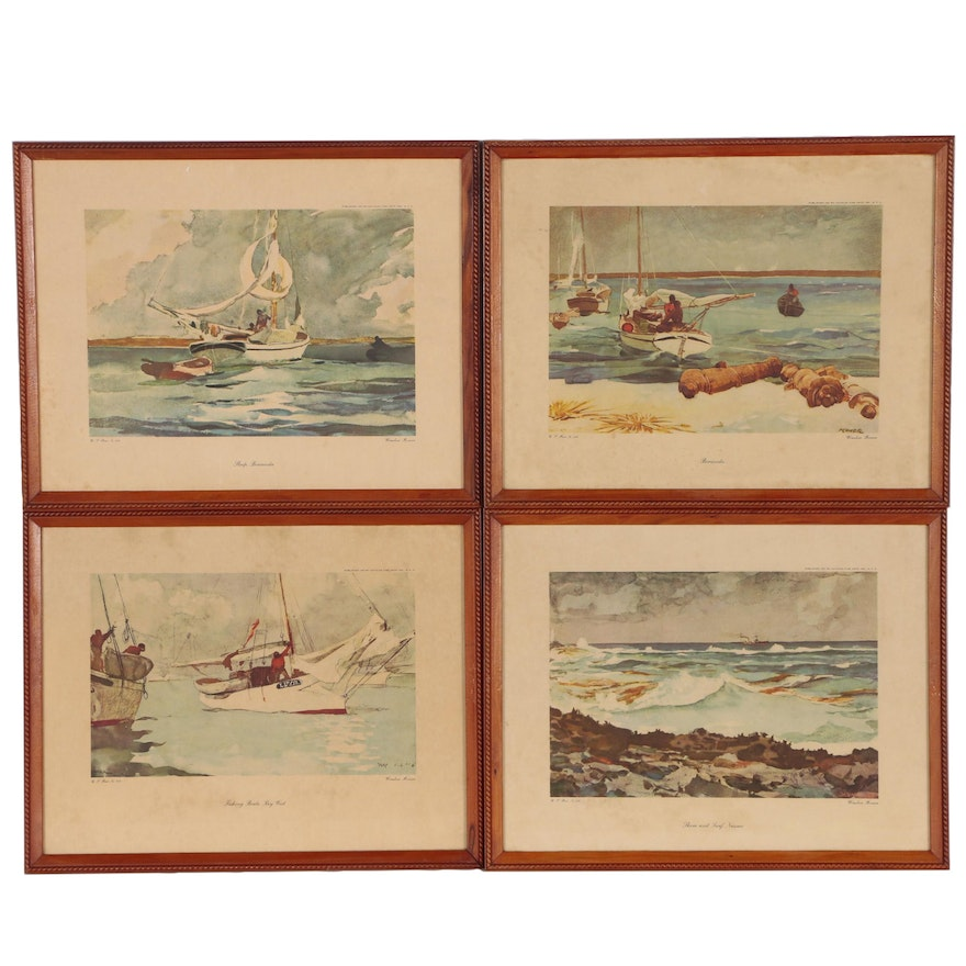 Offset Lithographs after Winslow Homer of Maritime Scenes