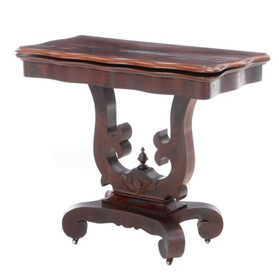 American Classical Mahogany Cardtable, Mid-19th Century