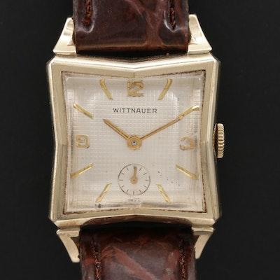 Wittnauer Gold Filled Stem Wind Wristwatch