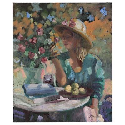 Sally Rosenbaum Figural Oil Painting