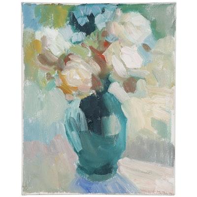 Still Life Oil Painting Attributed to Sally Rosenbaum