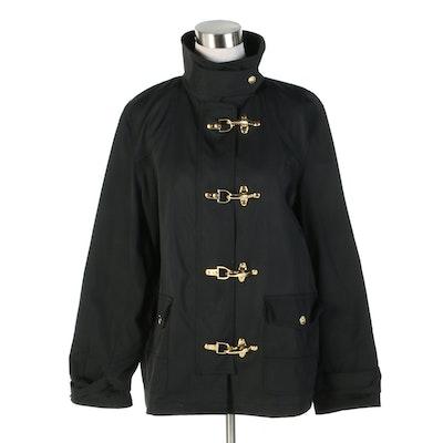Lauren Ralph Lauren Black Duffel Toggle Coat