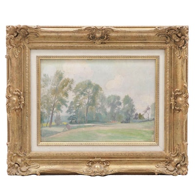 Charles John Stokoe Landscape Oil Painting, Early 20th Century