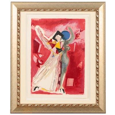 """Marino Marini Lithograph """"La Traviata"""" for Metropolitan Opera, 1978"""