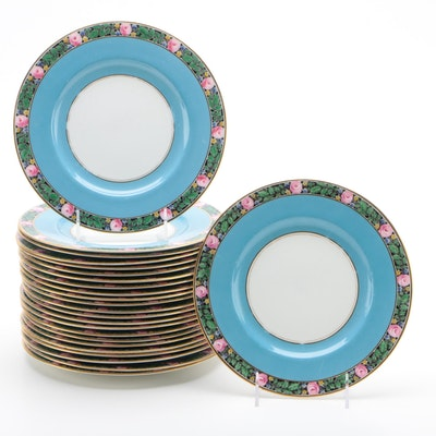 Royal Worcester Porcelain Luncheon Plates, England, 1920