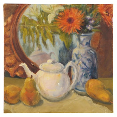 Jane Strasser Washburn Oil Painting of Still Life with Teapot