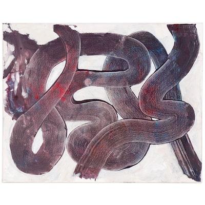 "Michael G. Larson Acrylic Painting ""Mardi Gras Mood"""
