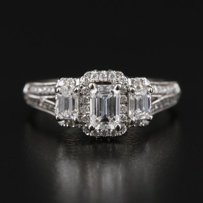 14K White Gold 1.25 CTW Diamond Ring
