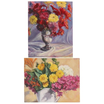 Jane Strasser Washburn Floral Still Life Oil Paintings