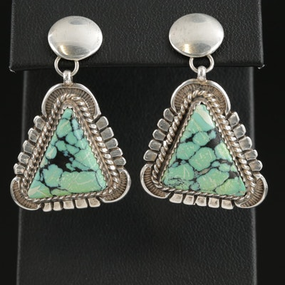 Will Denetdale Navajo Diné Sterling Silver Turquoise Earrings