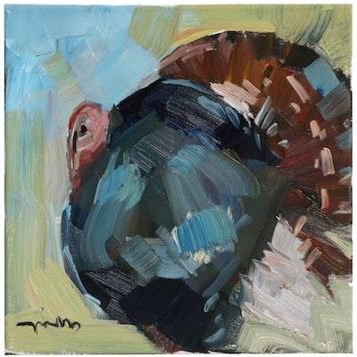 "Jose Trujillo Oil Painting ""The King Turkey"""