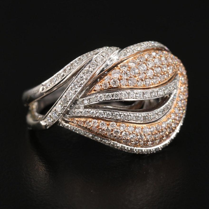 Simon G 18K White Gold 1.50 CTW Diamond Ring