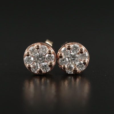 Effy 14K Yellow Gold Diamond Earrings