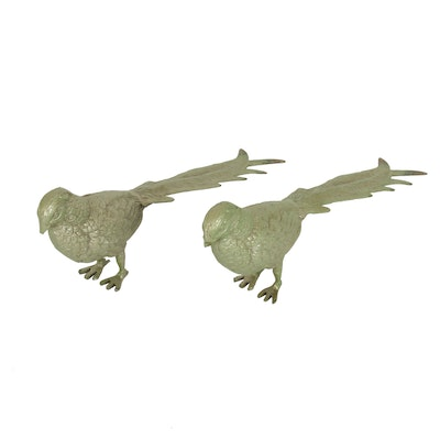 Hand-Forged Pewter Pheasants