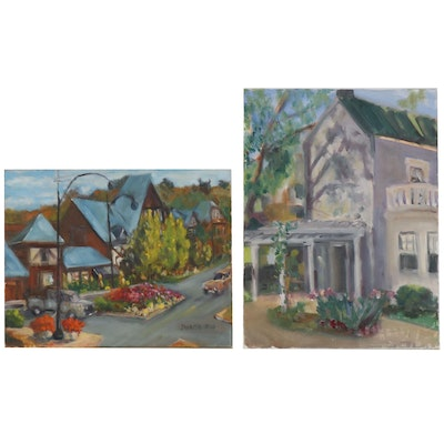 Jane Strasser Washburn Street Scene Oil Paintings
