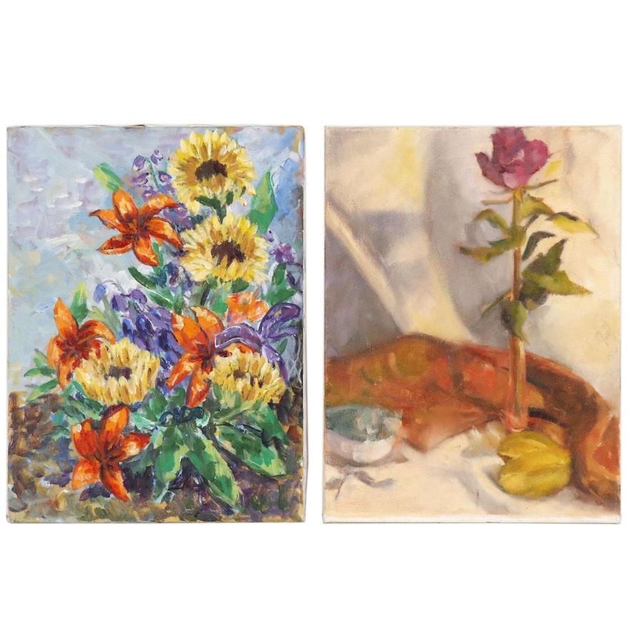 Jane Strasser Washburn Floral Oil Paintings