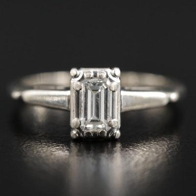 Vintage Karlan & Bleicher Inc. 14K 0.40 CT Diamond Solitaire Ring
