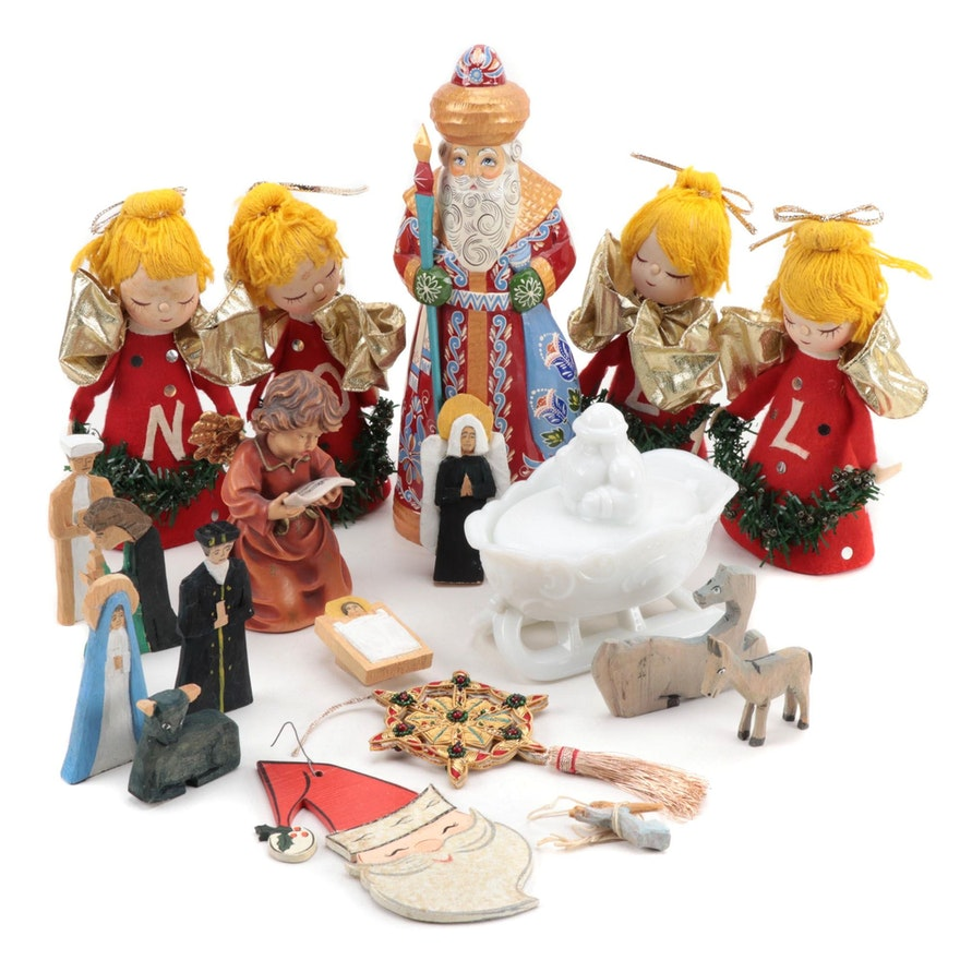 Handcrafted Christmas Figurines and Ornaments
