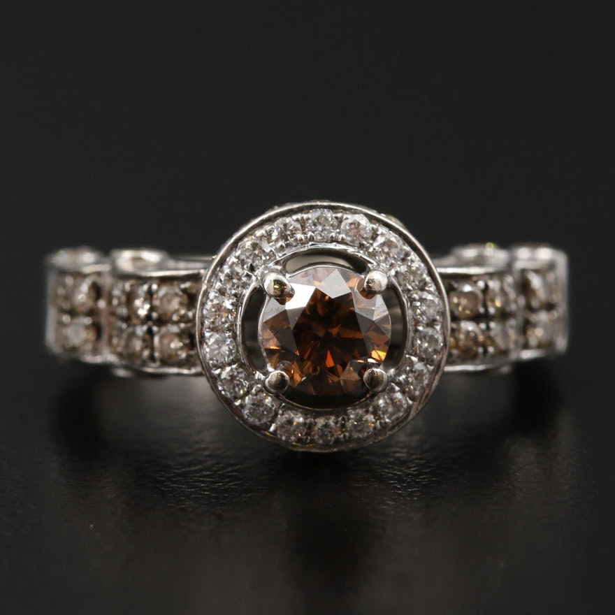 Le Vian 14K White Gold 1.24 CTW Diamond Ring