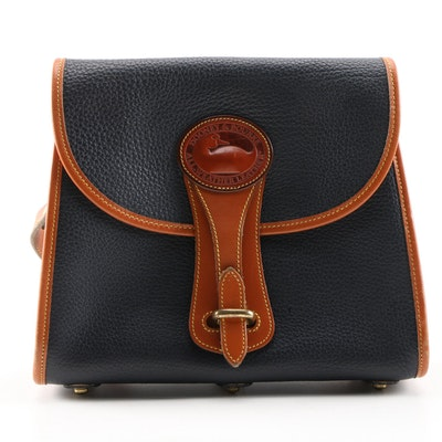 Dooney & Bourke Essex Navy and Tan All-Weather Leather Crossbody Bag