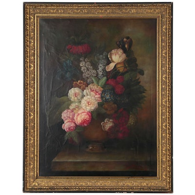 Terance Alexander Dutch Style Floral Still Life Oil Painting
