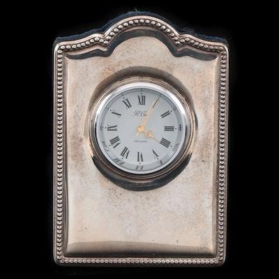 R. Carr Sterling Silver Desk Clock