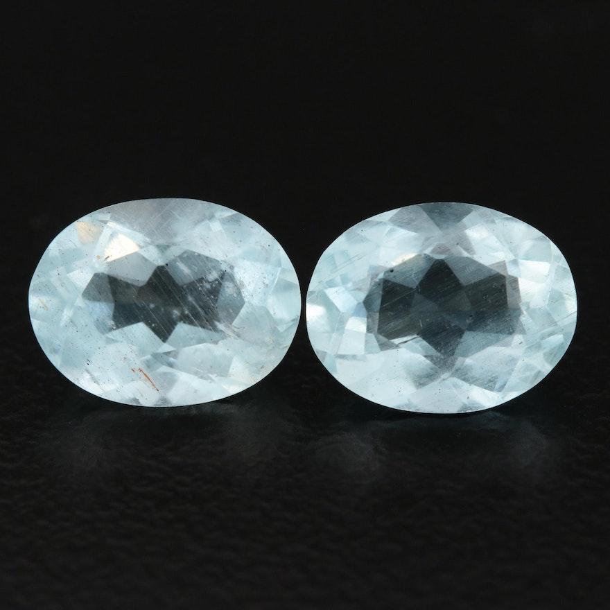Loose 3.29 CTW Aquamarine Gemstones