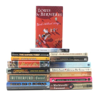 "Fiction Books Including Signed ""Birds Without Wings"" by Louis de Bernières, 2004"