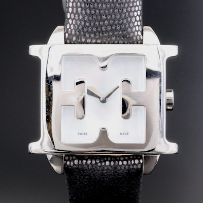 Escada Estelle Stainless Steel Quartz Wristwatch With Mother of Pearl Dial