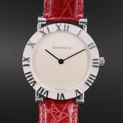 Tiffany & Co. Atlas Sterling Silver Quartz Wristwatch