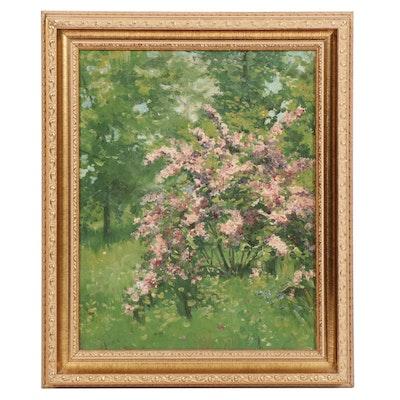 Acrylic Floral Landscape Painting