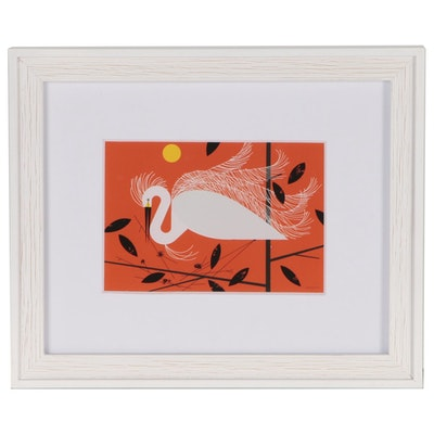"Offset Lithograph after Charley Harper ""Snowy Egret"""