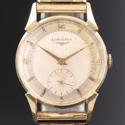 14K Gold Longines Stem Wind Wristwatch