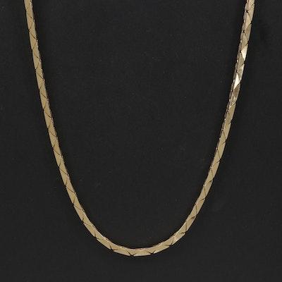 14K Yellow Gold Cobra Chain