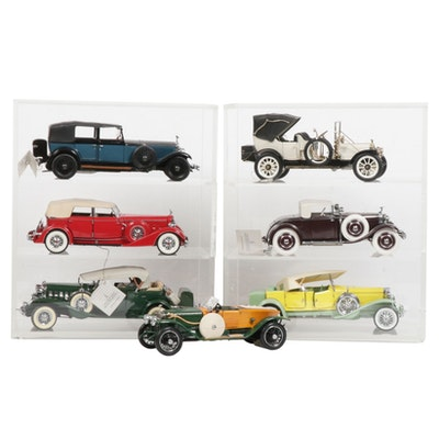 Franklin Mint Precision Models and Danbury Mint Diecast Cars and Display Cases