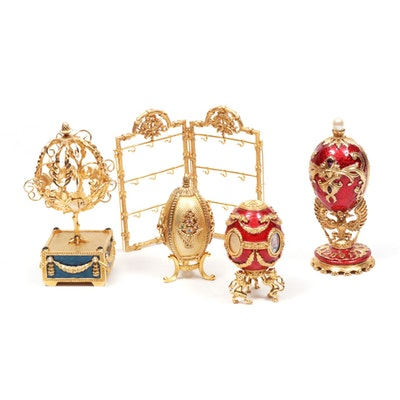 Joan Rivers Imperial Treasures Embellished Eggs with Stand