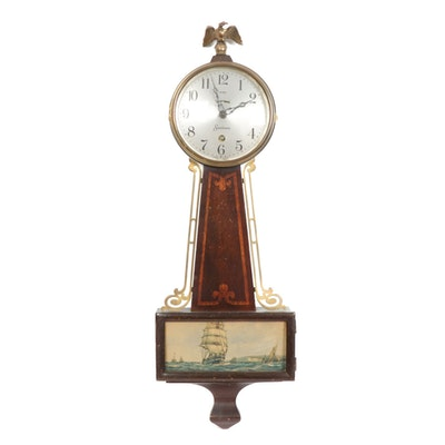 Sessions 8 Day Provincetown Lever Time Wall Clock, Early 20th Century