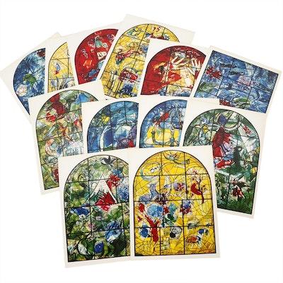 "Sleeve of Twelve Color Postcards ""Marc Chagall: The Jerusalem Windows"", 1962"