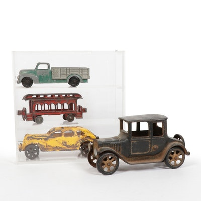 Hubley and Other Pressed Steel Classic Toy Vehicles, Early to Mid 20th Century