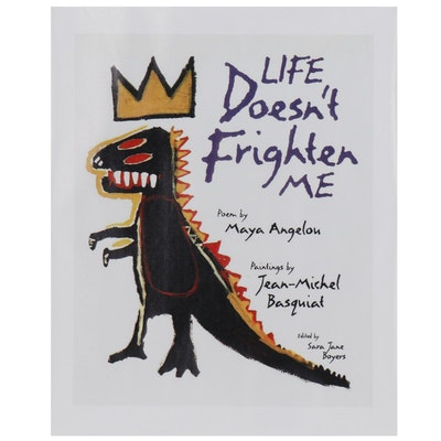 """Giclée after Jean-Michel Basquiat Book Cover for """"Life Doesn't Frighten Me"""""""