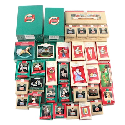 Hallmark Keepsake Christmas Ornaments in Original Packaging, 1980s-2000s