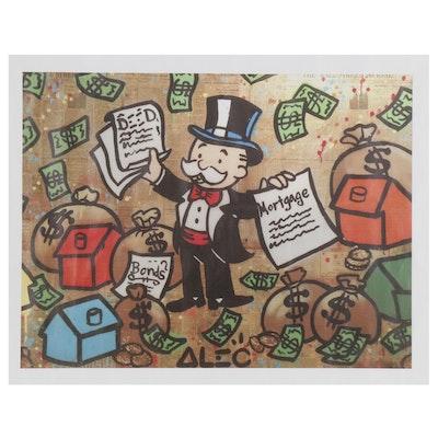 Pop Art Giclée after Alec Monopoly Featuring Mr. Monopoly