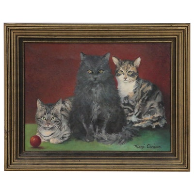 Margi Cochran Oil Painting of Cats