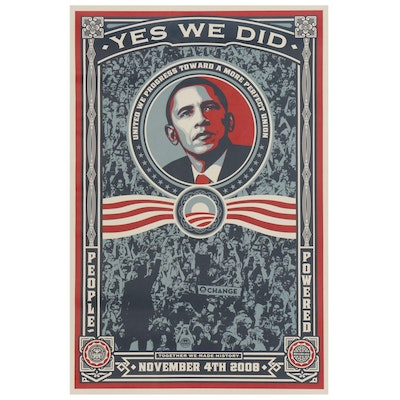 "Shepard Fairey Offset Print ""Yes We Did"", 2008"
