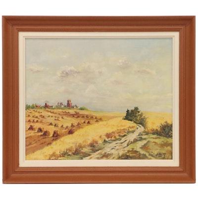 Frank Kaszas Landscape Oil Painting, 1964