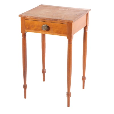 Sheraton Beech Occasional Table, 19th Century