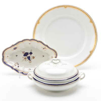 English Earthenware Dessert Dish, William Guérin Porcelain Serving Dish and more