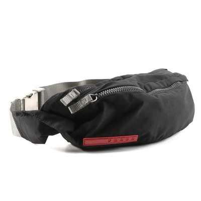 Prada Sport Belt Bag in Black Tessuto Nylon