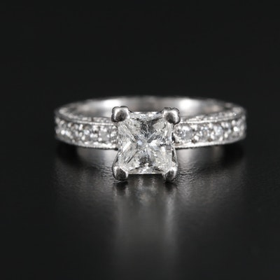 "Tacori Platinum 2.00 CTW Diamond Ring from the ""Classic Crescent Collection"""