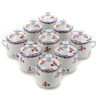 F. Legrand Limoges Porcelain Pots de Creme, Late 19th/Early 20th Century